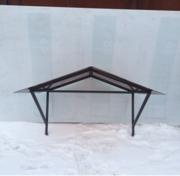 Козырек для крыши металл с поликарбонатом